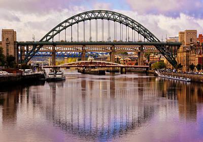 Newcastle Bridges Print by Trevor Kersley