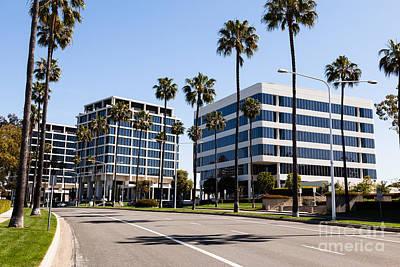 Newport Beach Office Buildings Orange County California Print by Paul Velgos