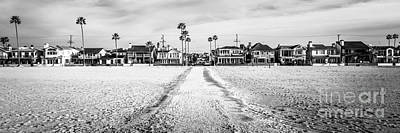 Newport Beach Panorama At 11th Street And Balboa Print by Paul Velgos