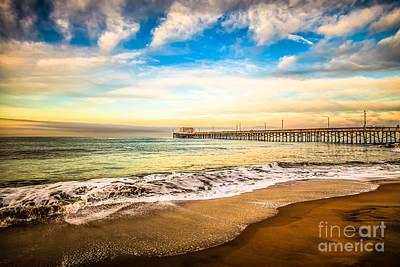 Newport Pier Photo In Newport Beach California Print by Paul Velgos