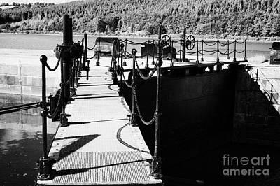 Newry Ship Canal Lock Gates And Controls At The Newly Refurbished Victoria Lock At Carlingford Lough Print by Joe Fox
