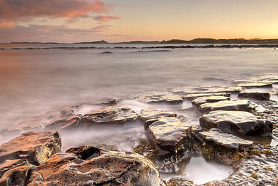 Dunstanburgh Photograph - Newton-on-the-sea Sunset by Chris Frost