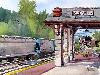 Mississippi River Painting - Next Stop Red Wing by Spencer Meagher