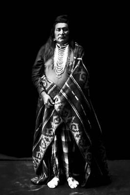 1899 Photograph - Nez Perce Indian Circa 1899 by Aged Pixel