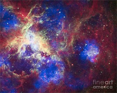 Heavenly Body Photograph - Ngc 2070, Tarantula Nebula, Composite by Science Source