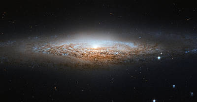 Science Fiction Painting - Ngc 2683 Spiral Galaxy by Celestial Images