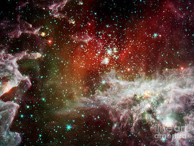 Heavenly Body Photograph - Ngc 281, Pacman Nebula, Infrared by Science Source