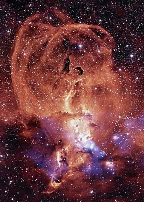 Composite Photograph - Ngc 3576 Nebula by Nasa