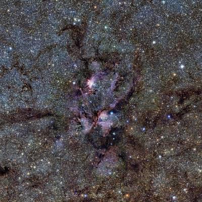 Stellar Photograph - Ngc 6357 Nebula by Eso/vvv Survey/d. Minniti. Acknowledgement: Ignacio Toledo