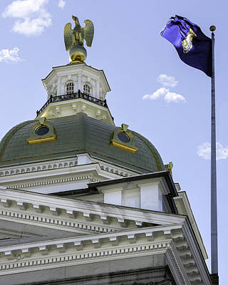 Nh State House Dome Print by Betty Denise
