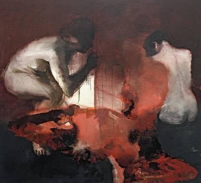 Blood Painting - Ni La Palabra Ni El Silencio by Simon Edmondson