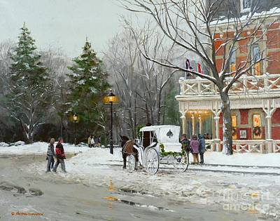 Snow Forts Painting - Niagara Carriage By The Prince Of Wales by Michael Swanson