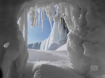 Photograph - Niagara Falls Frozen Cave by J R Baldini M Photog CR