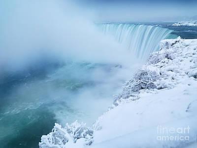 Niagara Falls In Winter Print by Oleksiy Maksymenko