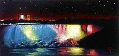 Sunsert Painting - Niagara Falls by Thomas Kolendra
