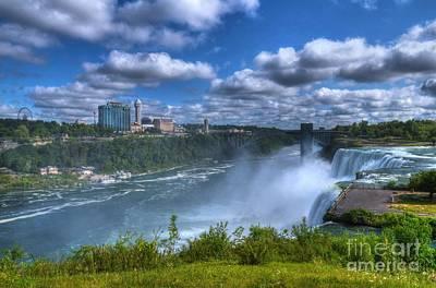 International Border Photograph - Niagara River Gorge by Mel Steinhauer