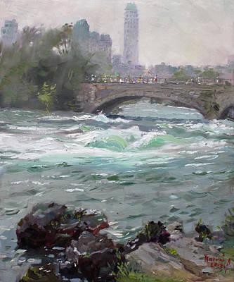 Niagara Roaring River Print by Ylli Haruni