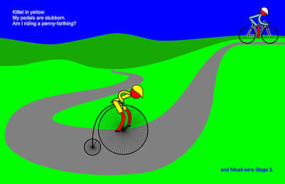 Digital Art - Nibali Wins Stage 2 by Asbjorn Lonvig