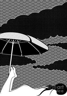 Umbrella Drawing - Nice Dream by Freshinkstain