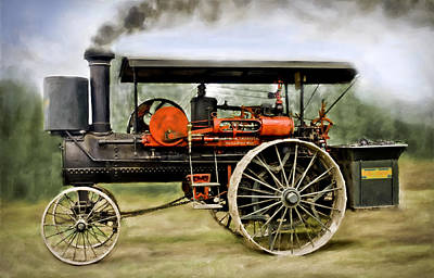 Greyhound Photograph - Nichols And Shepard Steam Traction Engine by F Leblanc