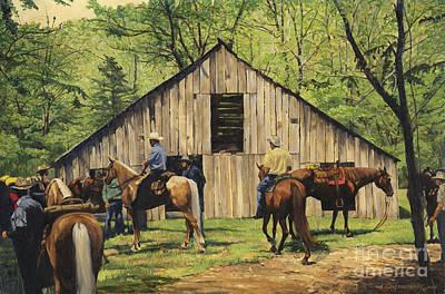 Nichol's Barn Print by Don  Langeneckert