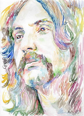 Robert Plant Framed Painting - Nick Mason by Marina Sotiriou