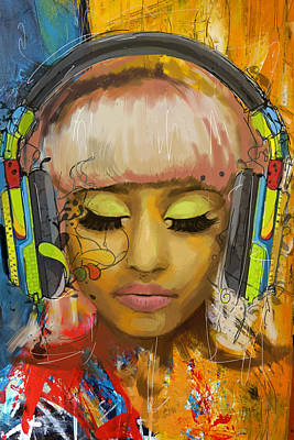 Celebrity Painting - Nicki Minaj by Corporate Art Task Force