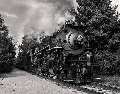 Steam Locomotive Photograph - Nickel Plate Berkshire 765 by Dale Kincaid