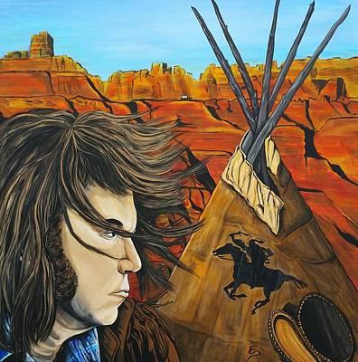 Neil At The Canyon Original by Edward Pebworth