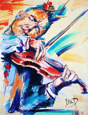 Violins Painting - Nigel Kennedy by Melanie D