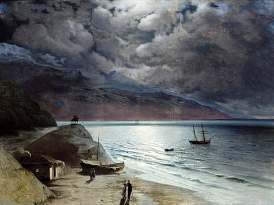 Aivazovsky Painting - Night At Gurzof by Ivan Konstantinovich Aivazovsky