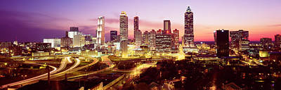 Night, Atlanta, Georgia, Usa Print by Panoramic Images