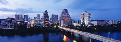 Night, Austin, Texas, Usa Print by Panoramic Images