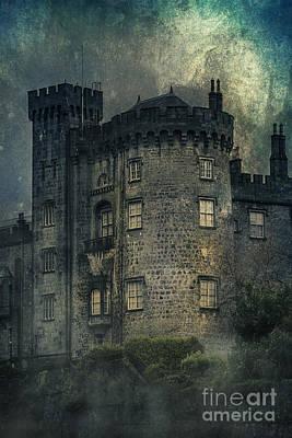 Dark Side Mixed Media - Night Castle by Svetlana Sewell