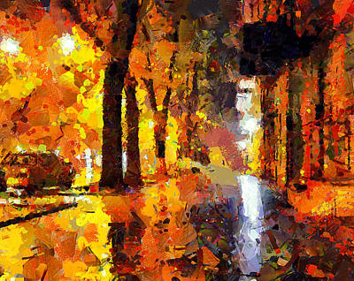 Excellent Christmas Gifts Digital Art - Night City Lights by Yury Malkov