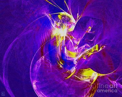 Artport Digital Art - Night Dancer 1 by Jeanne Liander