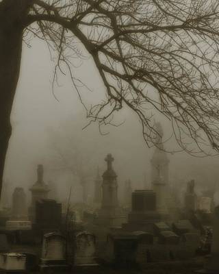 Eerie Digital Art - Night Fog by Gothicolors Donna