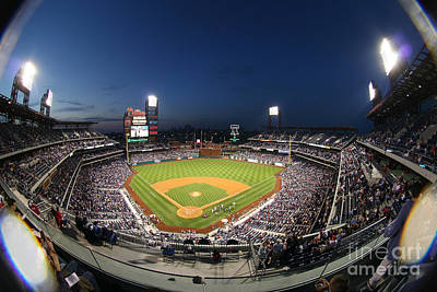 Citizens Bank Park Photograph - Night Life At Citizens Bank Park by Bryan Maransky