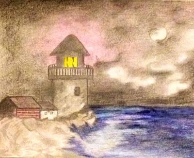 Night Light House Original by Bradley Warner
