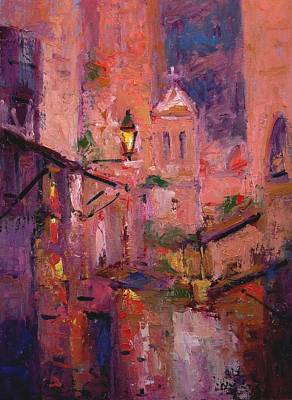 Night Light In Monemvasia Original by R W Goetting