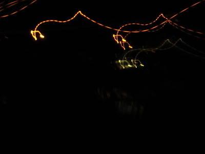 Light Photograph - Night Light Series No.7 by Ingrid Van Amsterdam