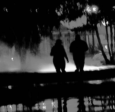 Night Moves  A Walk In The Park  Print by Rosemarie E Seppala