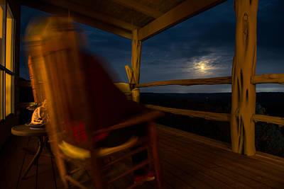 Night On The Porch Print by Darryl Dalton
