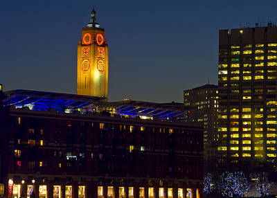 London Skyline Photograph - Night Oxo Tower Skyline by David French