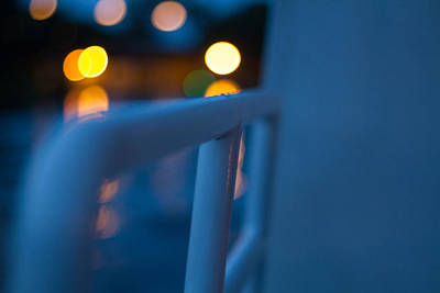 Light Photograph - Night Railing by J Darrell Hutto