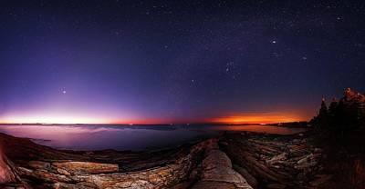 Venusian Photograph - Night Sky Over An Atlantic Coastline by Babak Tafreshi