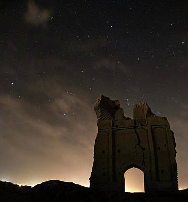 Night Sky Over Sar Yazd Print by Babak Tafreshi
