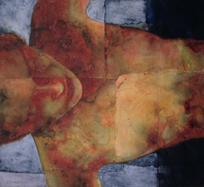 Erotica Painting - Night Swimming by Graham Dean