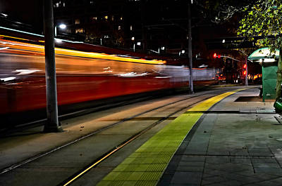 Night Train Print by See My  Photos