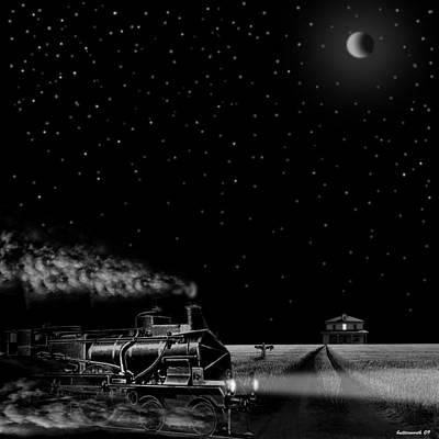 Night Train Print by Larry Butterworth